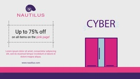 Cyber Monday Retail Offer Facebook Cover Video