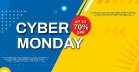CYBER MONDAY SALE AD Video Template Image partagée Facebook