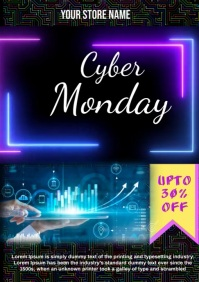 Cyber Monday Sale A4 template