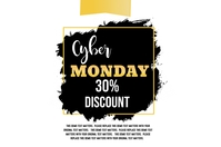 Cyber Monday Sale Etiket template
