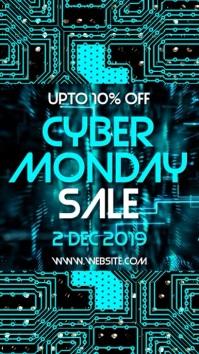 Cyber monday Sale Historia de Instagram template