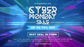 Cyber Monday Sale Digital Display Video template
