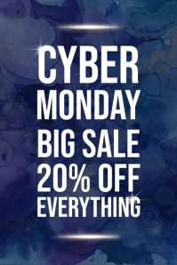 Cyber Monday Sale Flyer Design Template