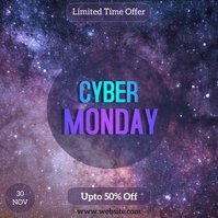 Cyber Monday Sale Flyer Instagram template