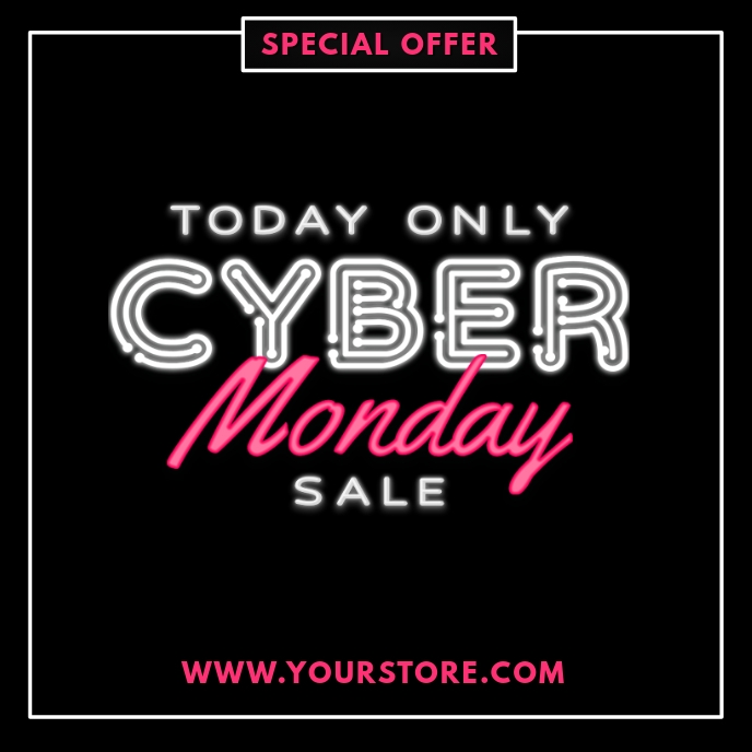 CYBER MONDAY SALE FLYER TEMPLATE