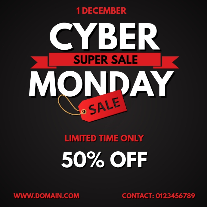 CYBER MONDAY SALE FLYER TEMPLATE Capa de álbum