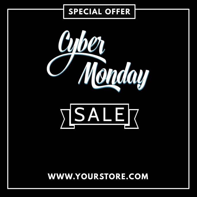 CYBER MONDAY SALE FLYER TEMPLATE Albumcover