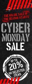 Cyber Monday Sale Flyer Halbe Seite Letter template