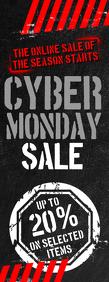Cyber Monday Sale Flyer Letter ครึ่งหน้า template