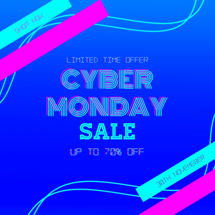 Cyber Monday Sale Instagram Post Template