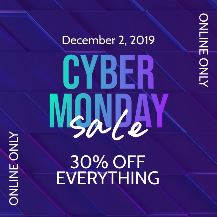 Cyber Monday Sale Instagram Promo Banner Post