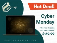 Cyber Monday Sale Slideshow Ad Flyer (US Letter) template
