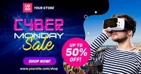 Cyber Monday Sale Social Media Ad Template Imagem partilhada do Facebook