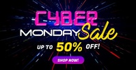 Cyber Monday Sale Social Media Video Ad Templ Facebook 广告 template