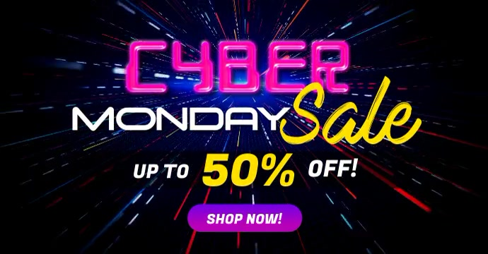 Cyber Monday Sale Social Media Video Ad Templ Facebook-annonce template