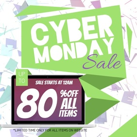Cyber Monday Sale Square Video