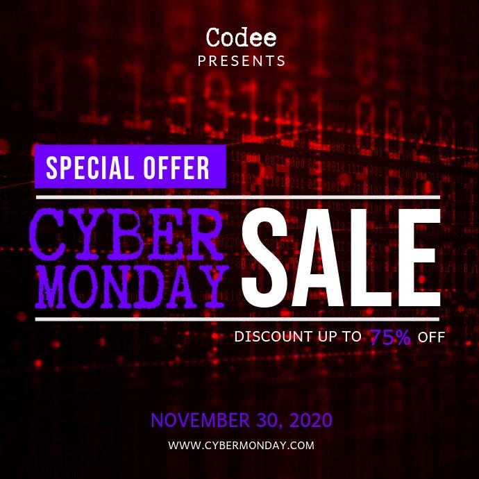 Cyber Monday Sale Square Video