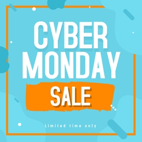 Cyber monday sale template Instagram Post
