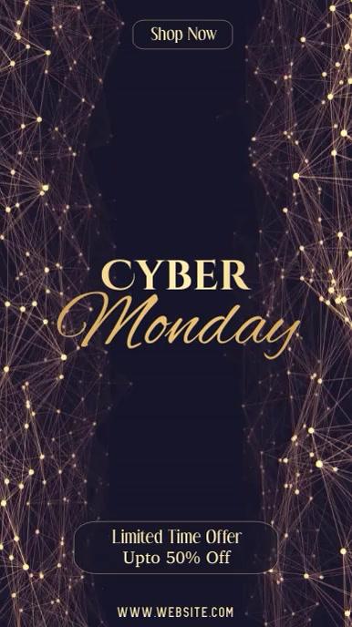 Cyber Monday Sale Video Instagram Story Digitalt display (9:16) template