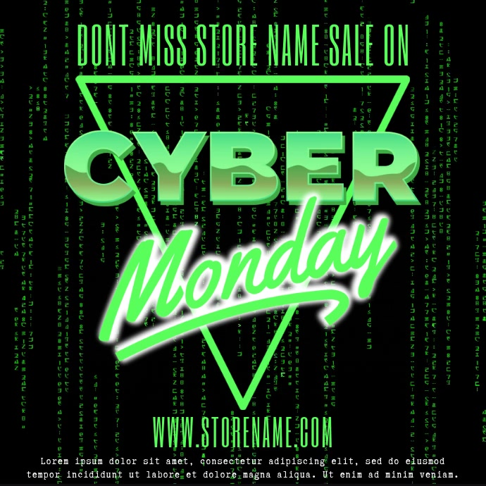 Cyber Monday Sale Video Template