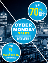 Cyber Monday Sales flyer Pamflet (Letter AS) template