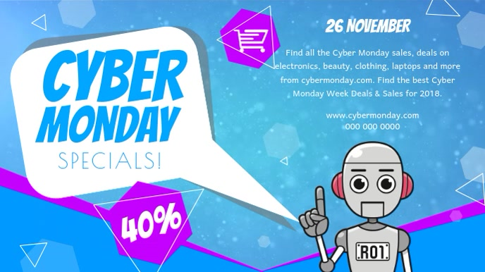 Cyber Monday Specials Digital Display Video