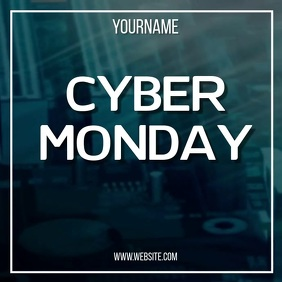 CYBER MONDAY SQUARE AD online SOCIAL MEDIA