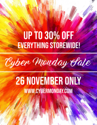 Cyber Monday Store Sale Flyer