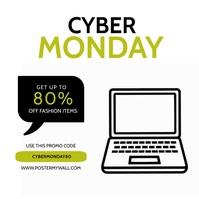 Cyber Monday Video Ad Template Square (1:1)