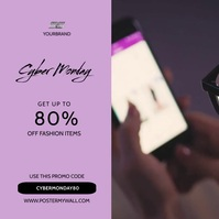 Cyber Monday Video banner template Square (1:1)