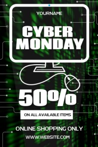 CYBER MONDAY VIDEO POSTER AD SOCIAL MEDIA template