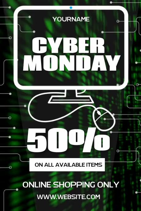 CYBER MONDAY VIDEO POSTER AD SOCIAL MEDIA