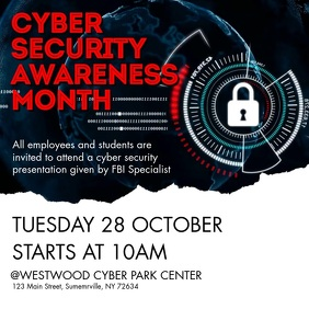Cyber Security Awareness Month Persegi (1:1) template