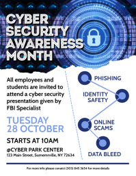Cyber Security Awareness Month Flyer