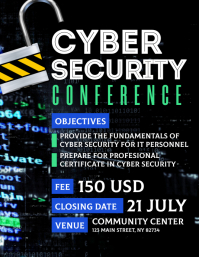 Cyber Security Conference Flyer