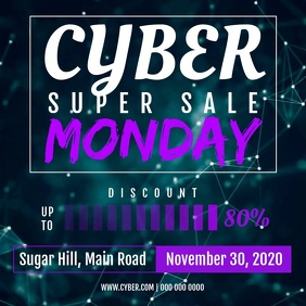 Cyber Super Sale Monday Square Video