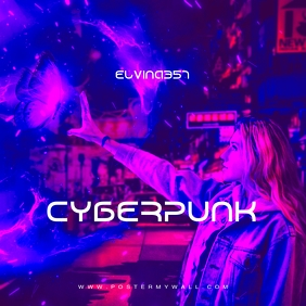 Cyberpunk Magic Girl CD Cover Mixtape Music