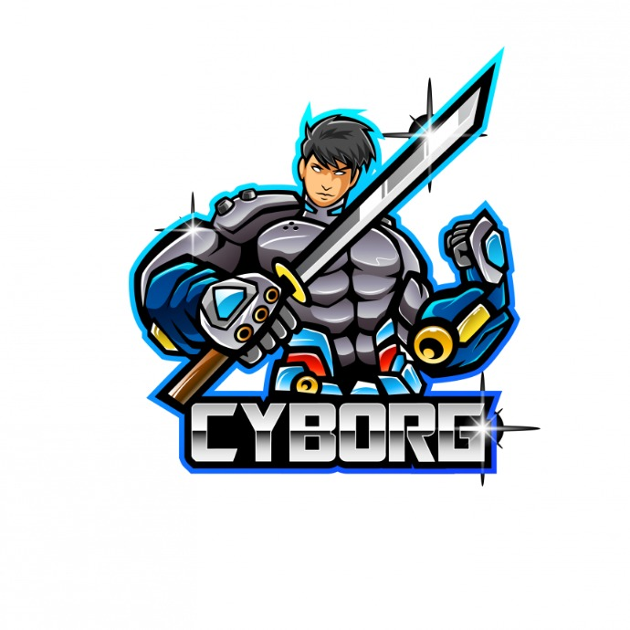 Cyborg Logo Mascot template