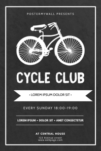 Cycle Club Flyer Design Template