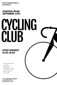 Cycling Club Flyer Template