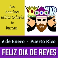 Día de reyes/holidays/celebration/card Pos Instagram template