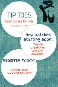Ballet classes poster/flyer template