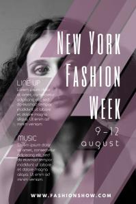 Elegant Fashion Poster Template Regard To Fashion Poster Design