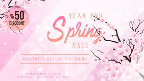 Pink Spring Sale Digital Display Video