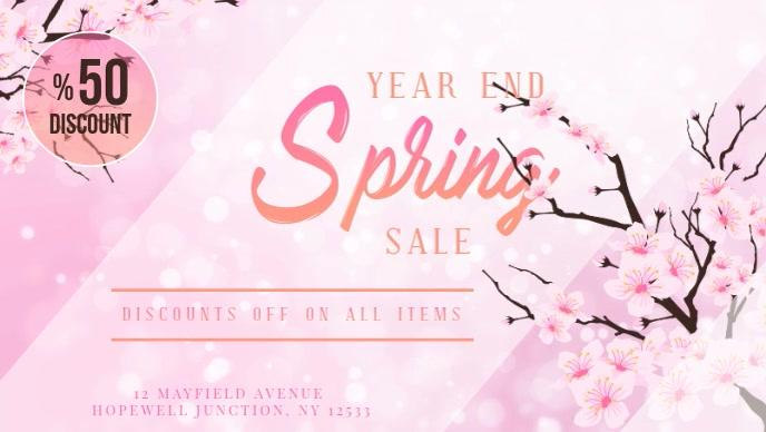 Pink Spring Sale Digital Display Video