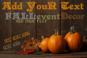 Fall Autumn Halloween Thanksgiving Event Decor Flyer