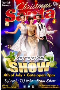 Christmas Karaoke Show Poster Plakkaat template
