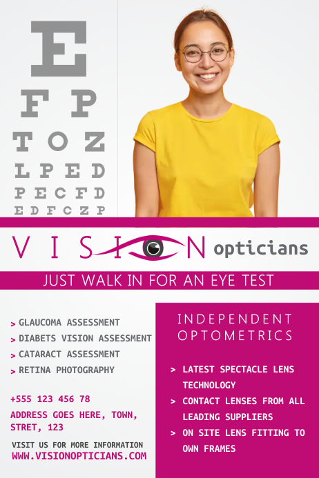 Optician Poster Template