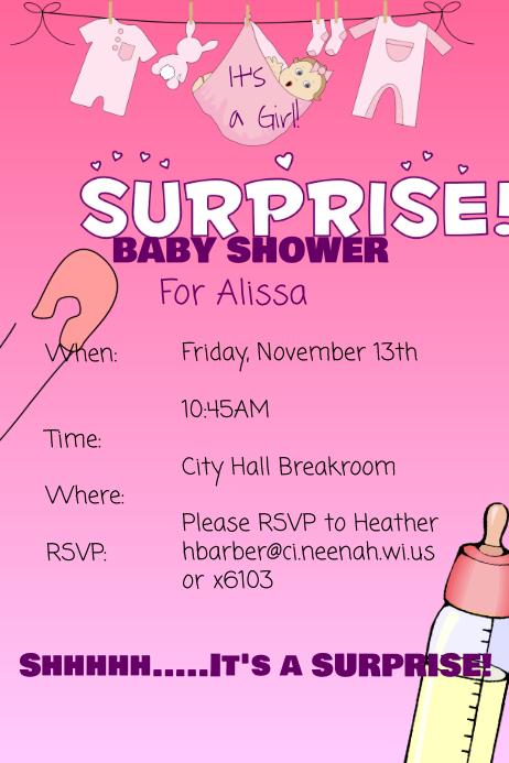 Baby Shower Flyer