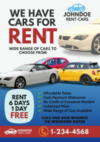 Rent a Car Flyer A4 template